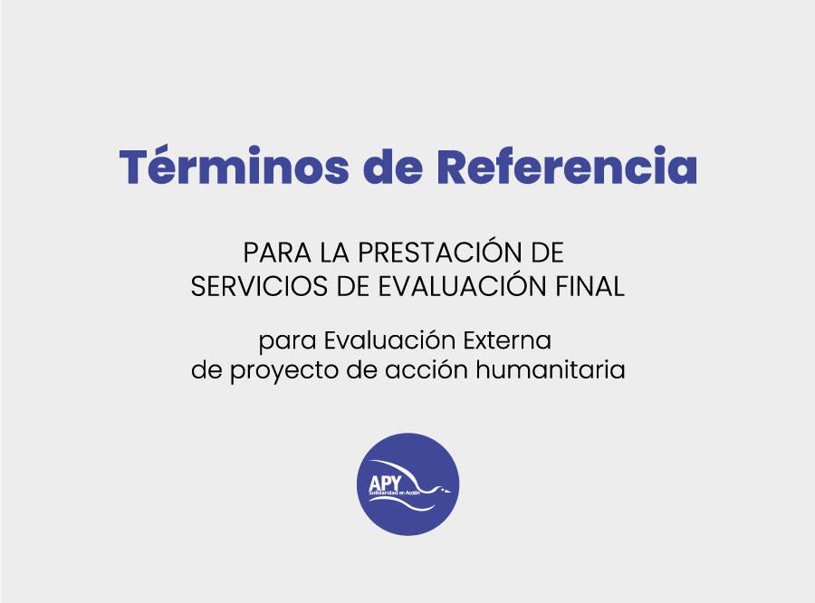 TdR Evaluación Acción Humanitaria